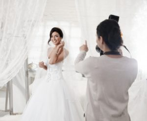 photographer and bride